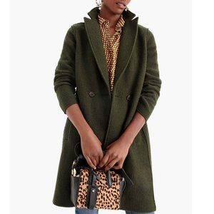 J. Crew Daphne Topcoat Green Wool 18 NWT